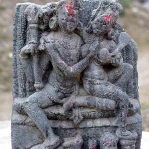 Image of Shiva-Parvati in Patharkatti village, Gaya, Bihar.