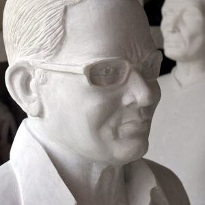 A bust in white marble