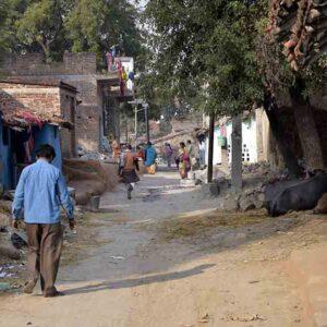 Village of Gaur Brahmins stone carvers in Patharkatti, Gaya, Bihar.