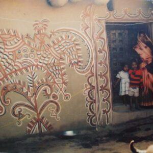 Sohrai painting on wall, Bhelwara, Hazaribagh, Jharkhand. Img 1, 1995