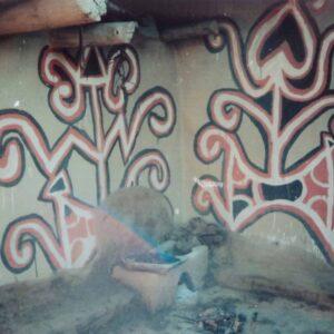 Sohrai painting on wall, Bhelwara, Hazaribagh, Jharkhand. Img 3, 1995