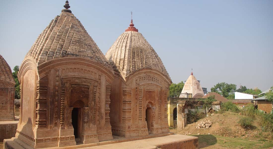 Cluster of temples in the village of Maluti in the Dumka district of Jharkhand. Image credit: amitabho58 / CC BY-SA