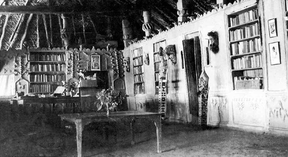 """Verrier Elwin""s home in Patangarh village, 1952"" - (Photo copyright Ashok Elwin, Douglas 2018: 13, Fig. 8)"