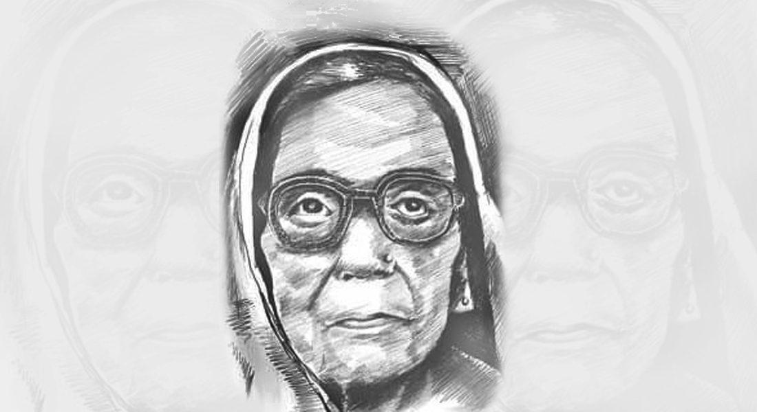 A sketch of Padma Shri Bindyabasini Devi, Folk Singer, Bihar
