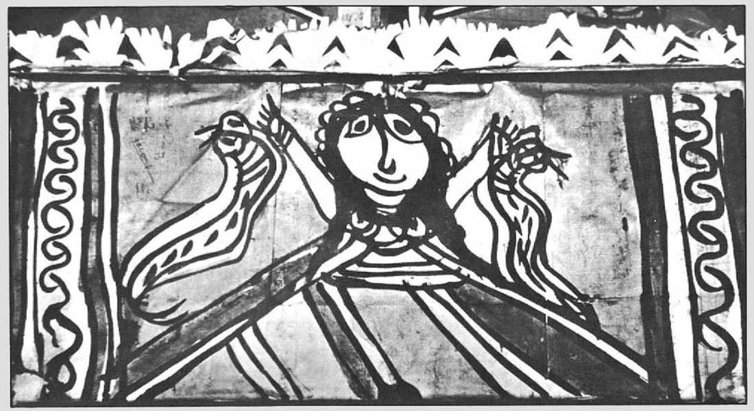 One of the pictures published in the monograph Manjusha painting: Folk Art of Anaga Janapada. Photo credit: Shekhar