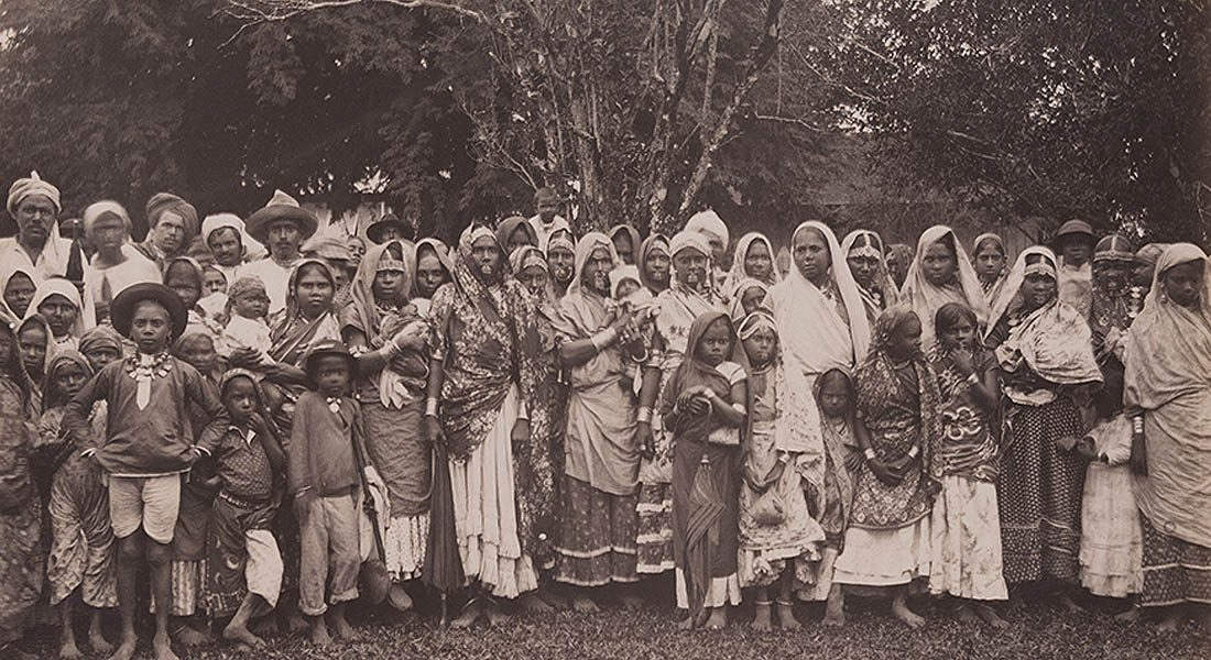 Indian-Family, Labourers in Early days, Mauritius.
