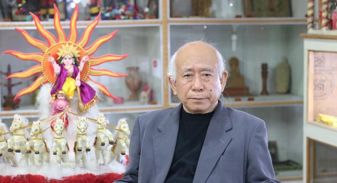Tokio Hasegawa, Founder Director, Mithila Museum, Japan in UMSAS, Patna © Folkartopedia library