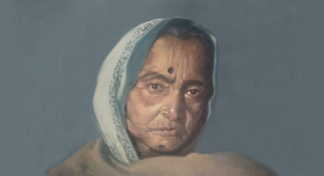 Portrait of Padma Shri Jagdamba Devi, Mithila artist, Bihar. Credit: Jyoti Karn, Noida