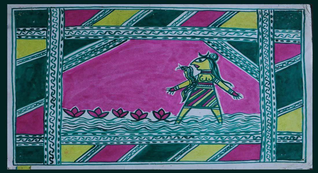 Manjusha painting by Manoj Pandit, '80s © Folkartopedia library