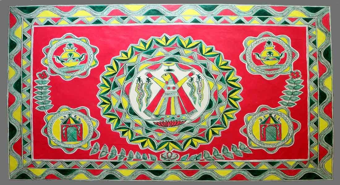 Manjusha painting by Pawan Sagar, Bhagalpur © Folkartopedia library