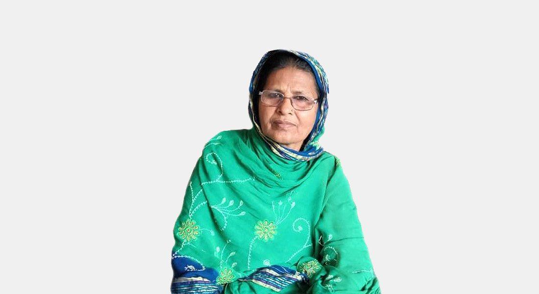 Nazda Khatoon, Eminent Sikki artist. Credit: Sujata Kumari