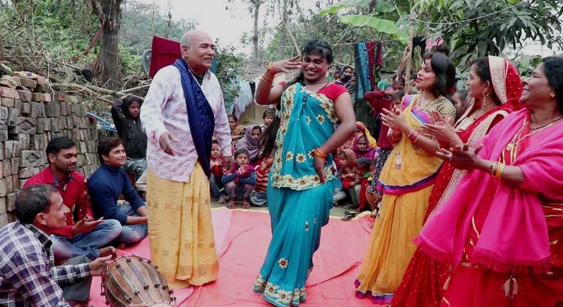 A still from MAUGIHAWA KE PAMARIYA NACH, Maithili comedy video. Credit: P.R. Patel