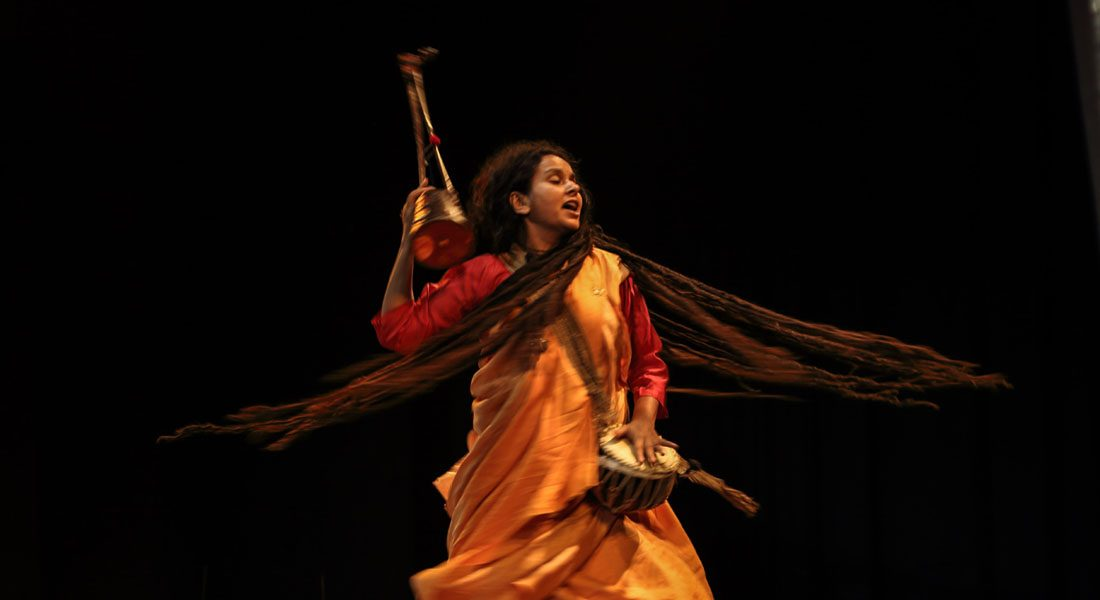 Parvathy Baul, the most recognized woman Baul performer in the world. Photo credit: Artist