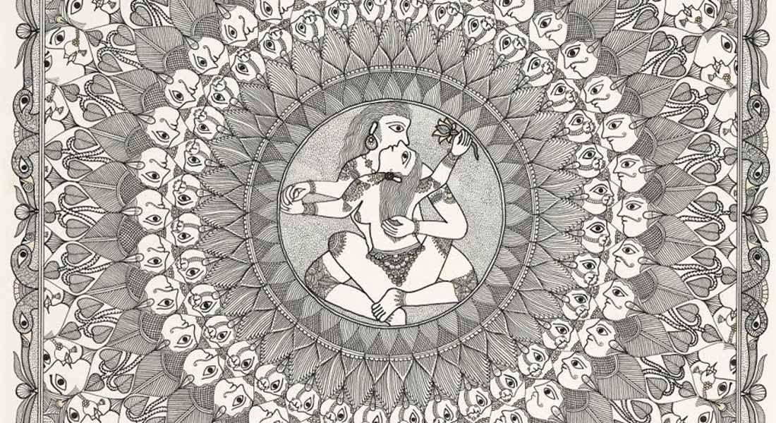Prakriti Purusha_2015 by Pushpa Kumari, Mithila painter Courtesy: Queensland Art Gallery