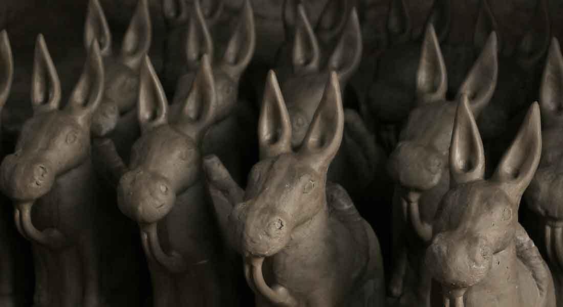 Clay Horses, 2018, Rama Pandit, Darbhanga, Bihar © Folkartopedia