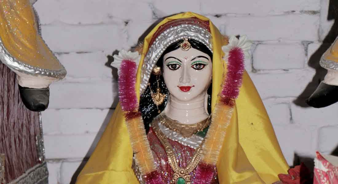 Maalin sculpture in Raja Salhesh Gahwar, ChunaBhatti, Darbhanga, Bihar © Folkartopedia library