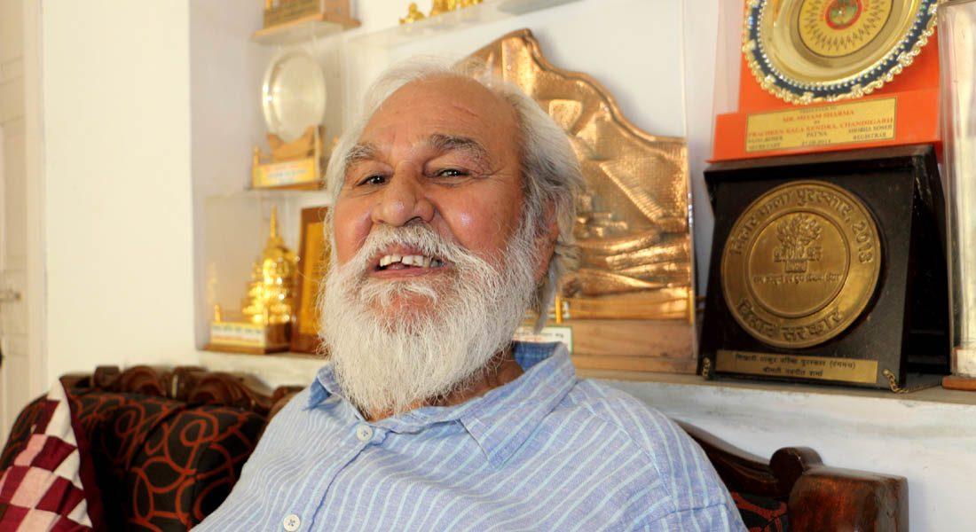 Padma Shri Shyam Sharma in his studio © Folkartopedia library