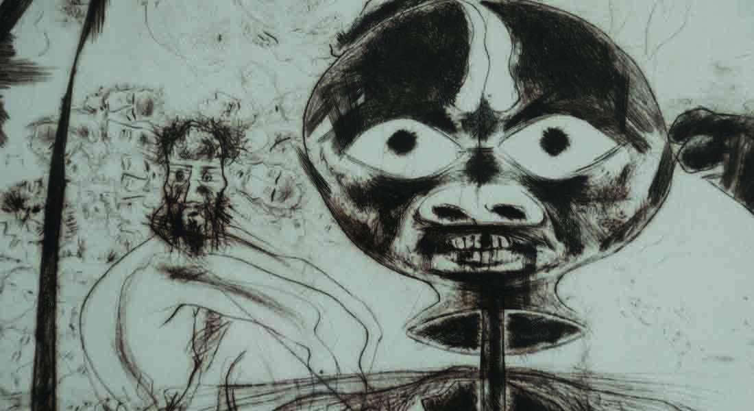 Painting on Dalit subject, Savi Sawarkar, Artist, Delhi.  Photo credit: https://wecur8.wordpress.com/