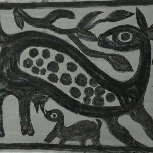 Khovar painting, Hazaribagh, Jharkhand. IMG 4
