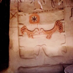 Mud Mural on the outer wall of a Mushar family. Photo courtesy: Sanjay Singh
