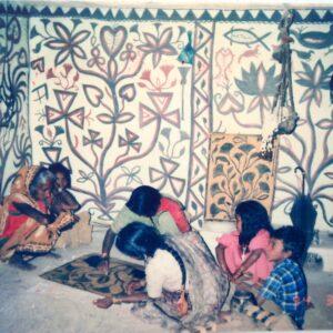 Sugiya Devi, Prajapati, vill. Kharati, Hazaribadh, Jharkhand. Img 1, 1994