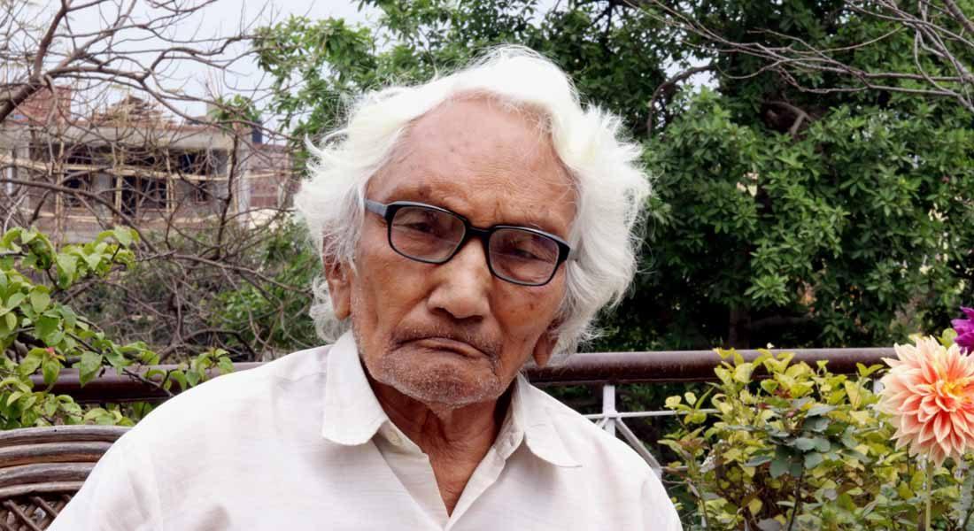 Anandi Prasad Badal, Senior artist, Bihar. Image credit: Rawindra Das © Folkartopedia library