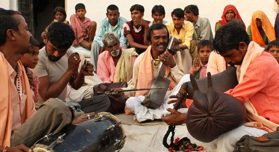 folklore singers, Raja Bharthari, Banda Gaon, Rajasthan Credit: Dr. Madan Meena