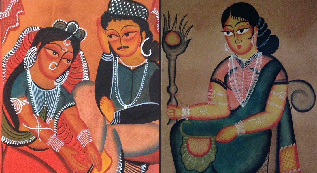 Common representation of Kalighat painting, Bengal.