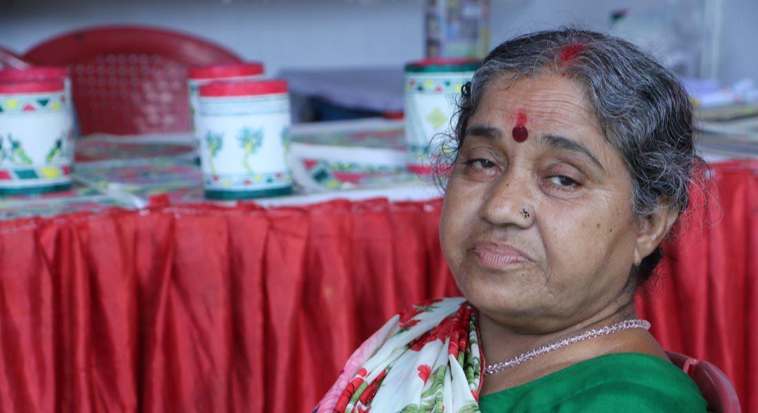 Senior Manjusha artist Nirmala Devi, Bhagalpur, Bihar © Folkartopedia library