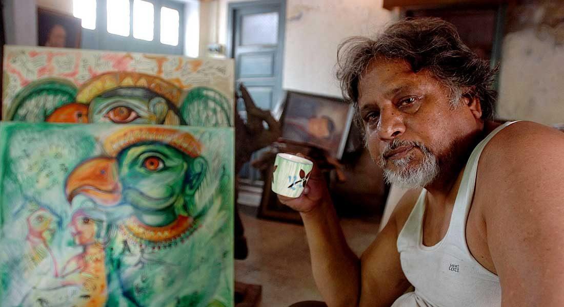 Rajat Ghosh, Senior sculptor, Patna, Bihar. Image: Artist's facebook page.
