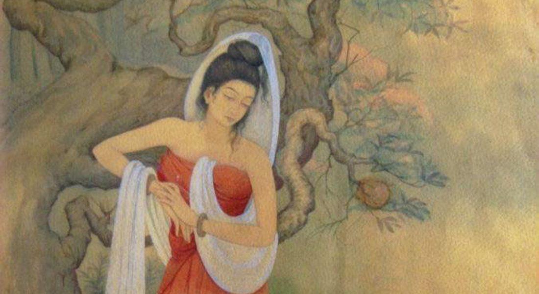 Shakuntala (part), Bateshwar Nath Srivastava, 1944, Wash Technique